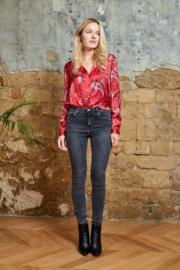 Jeans donker grijs skinny L185-J56