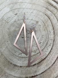 Hangoorbellen rosé open driehoek