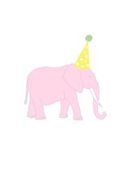 Wenskaart olifant