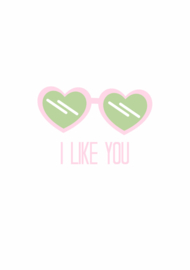 Wenskaart i like you