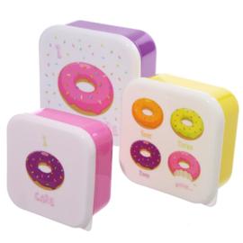 3 delige lunchtrommelset - Donuts
