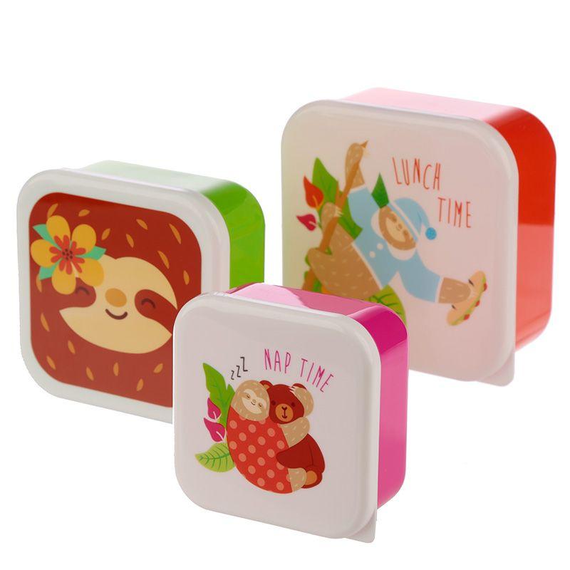 Lunchbox set 3 delig Luiaard