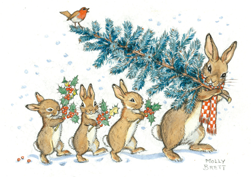 Carrying a Christmas Tree - Molly Brett