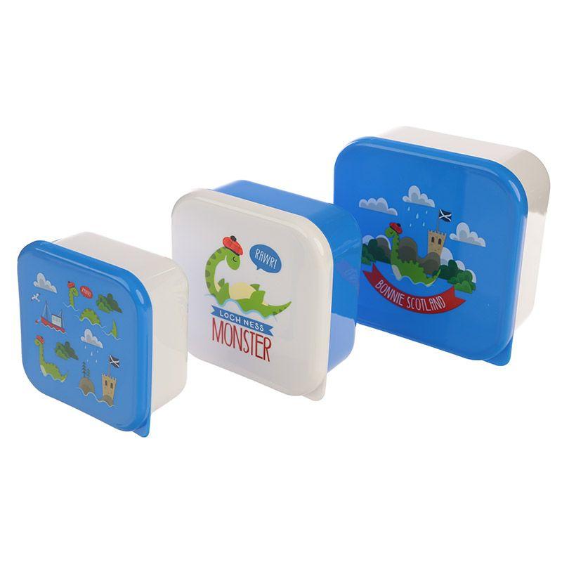 3 delig Lunchbox set - Nessie Schotland