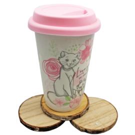 Dubbelwandige 'travel cup'  Marie, 'Love you'