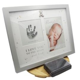 Fotolijst voor handafdrukje, licht grijs