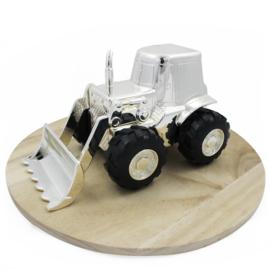 Spaarpot Tractor, verzilverd