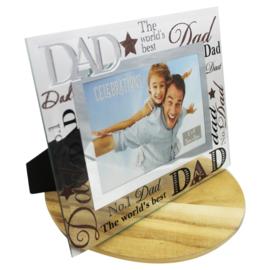 Fotolijstje glas, 'Dad'