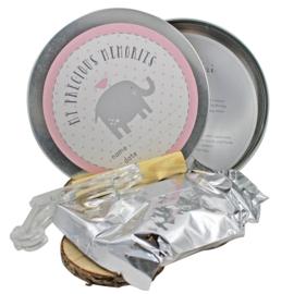 Blik voor handafdrukje (roze)