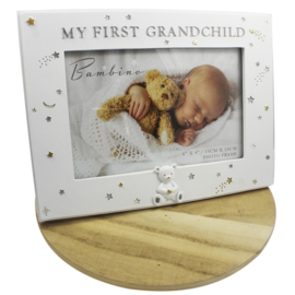 Fotolijstje wit, 'My First Grandchild'