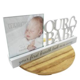 Fotolijstje 'Our Baby', houten letters