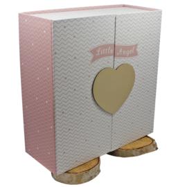 B-KEUS: Keepsake box 'Little Angel', roze