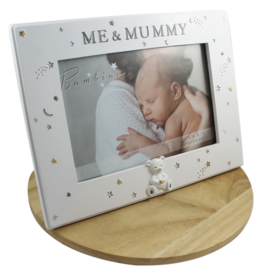 Fotolijstje wit, 'Me & Mummy'