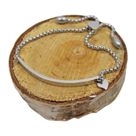 Gepersonaliseerde armband met hart, 'Voor Mama/Oma'