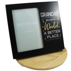 Fotolijstje, 'Grandad, you make the world a better place'