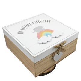 Regenboog Keepsake Box 'My special Keepsakes'