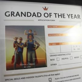 Fotolijst 'Grandad of the Year'