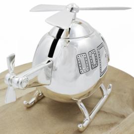Spaarpot Helikopter, verzilverd