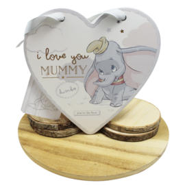 Dombo hart, 'I love you mummy'