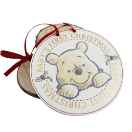 Hanger 'Baby's 1st Christmas', Winnie the Pooh