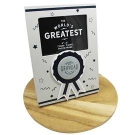 Fotolijstje 'Greatest ever Grandad', licht grijs