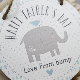 Hanger 'Happy Father's Day from bump'
