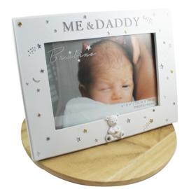Fotolijstje wit, 'Me & Daddy'