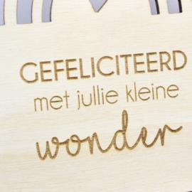 Houten kaart, 'Klein wonder'