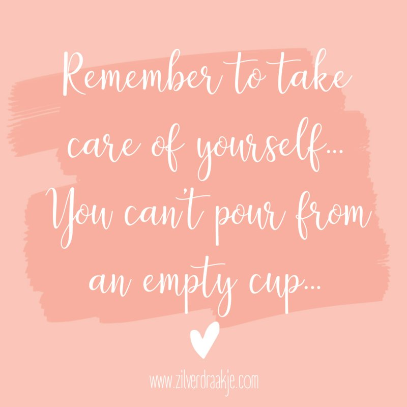 'Take care of yourself...'