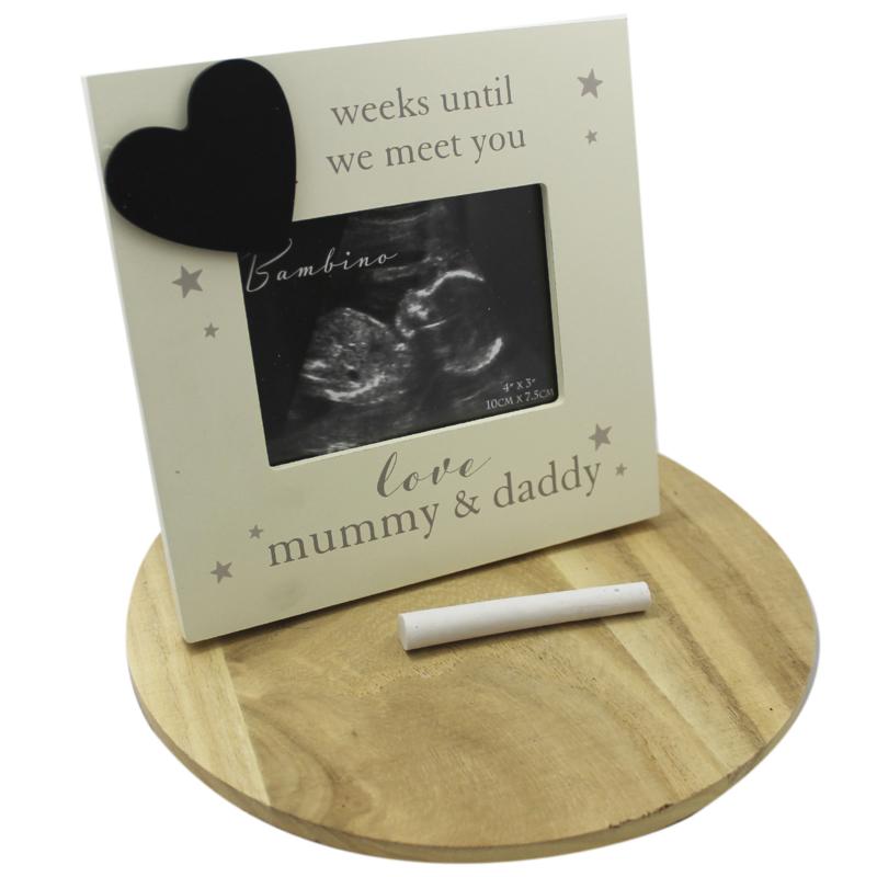 Echo fotolijstje hout, 'Mummy & Daddy'