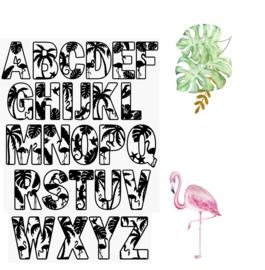 Houten letters Tropisch