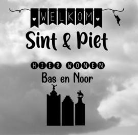 Raamsticker Sint en Piet XL