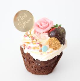 Cupcaketoppers Naam/Leeftijd