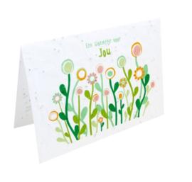 Bloemenkaart voor jou