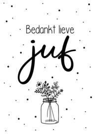 Minikaartje Juf Bloemen