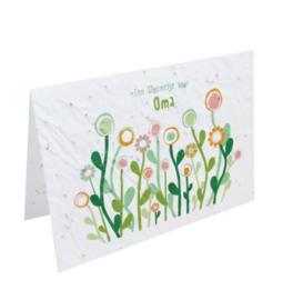 Bloemenkaart Oma
