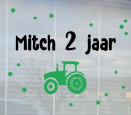Sticker Hoera Traktor Herbruikbaar