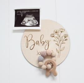 Zwangerschapsaankondiging bloemen