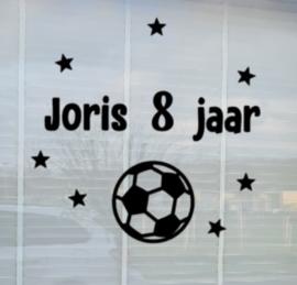 Sticker Hoera Voetbal Herbruikbaar