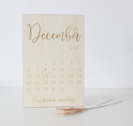 Zwangerschapsaankondiging Kalender