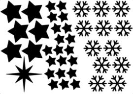 Uitbreiding sterren en sneeuwvlokken
