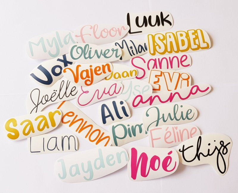Stickers Namen Multicolor