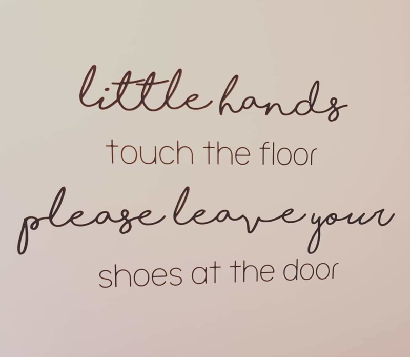 Leave your shoes