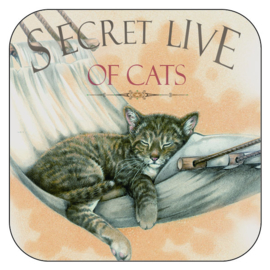 "Coaster ""Secret Live of Cats 2"", per 3 pieces"