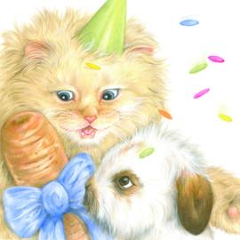 Wie is er zo gelukkig met een wortel voor zijn verjaardag? Van harte gefeliciteerd!