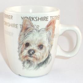 Senseo mok Yorkshire Terrier - per set van 3 stuks