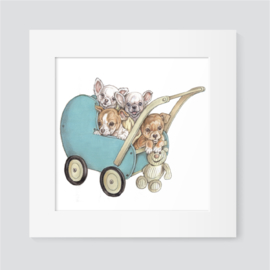 Chihuahua's in kinderwagen