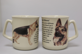 Mug German Shepherd Dog - per 3 pieces