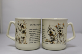 Mug West Highland White Terrier - per 3 pieces