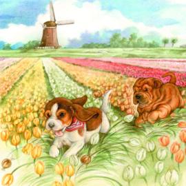 Hollands tafereeltje, even lekker rennen...., per stuk